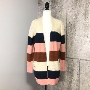 🆕 Caslon Emily Beige Oatmeal Cardigan Stripes